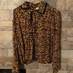 Gold & Black flower shirt